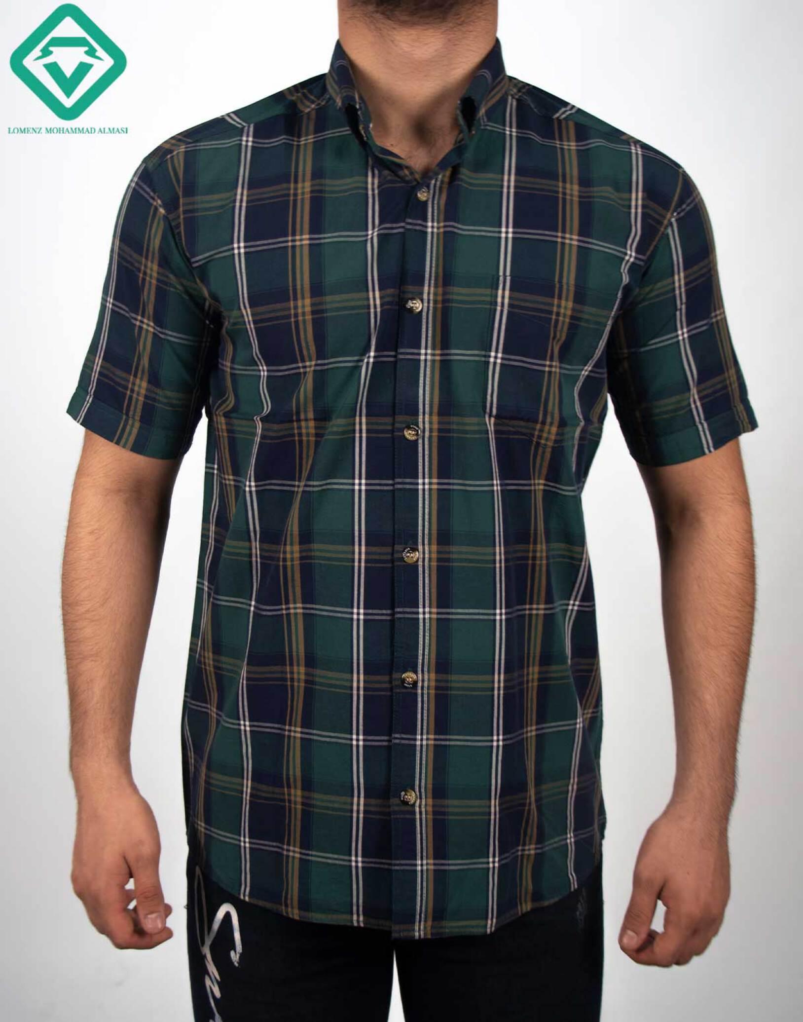 پیراهن اسپرت چهارخونه کد 018 تولید شده توسط سایت لومنز