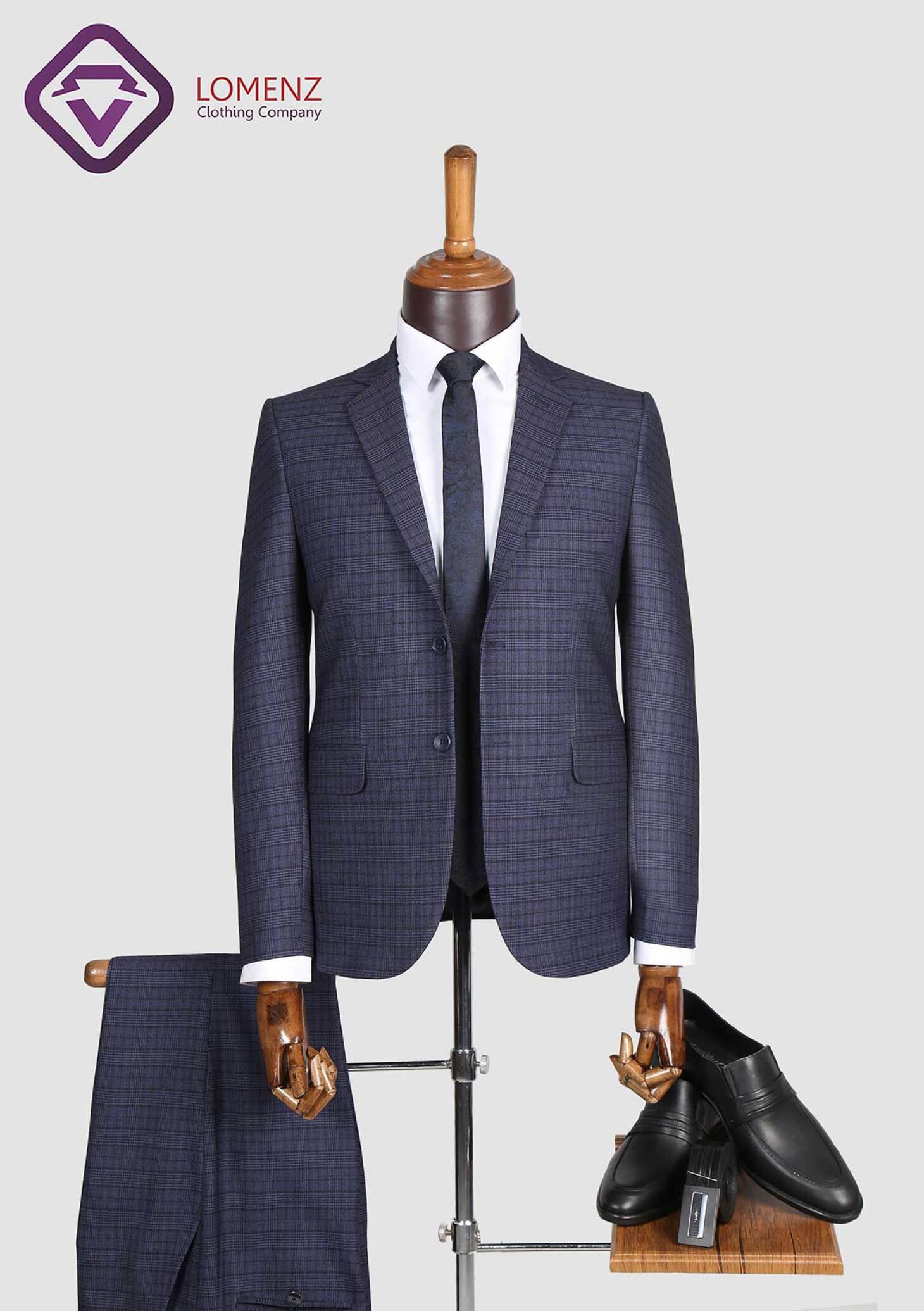 کت شلوار پیچازی طرح فاستونی کد 03 تولید شده توسط سایت لومنز