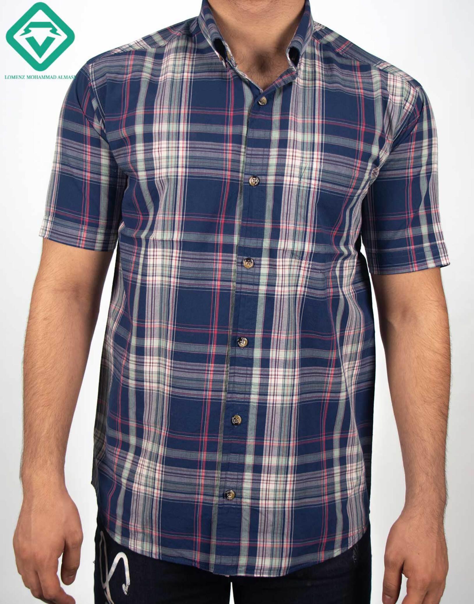 پیراهن اسپرت چهارخونه کد 013 تولید شده توسط سایت لومنز