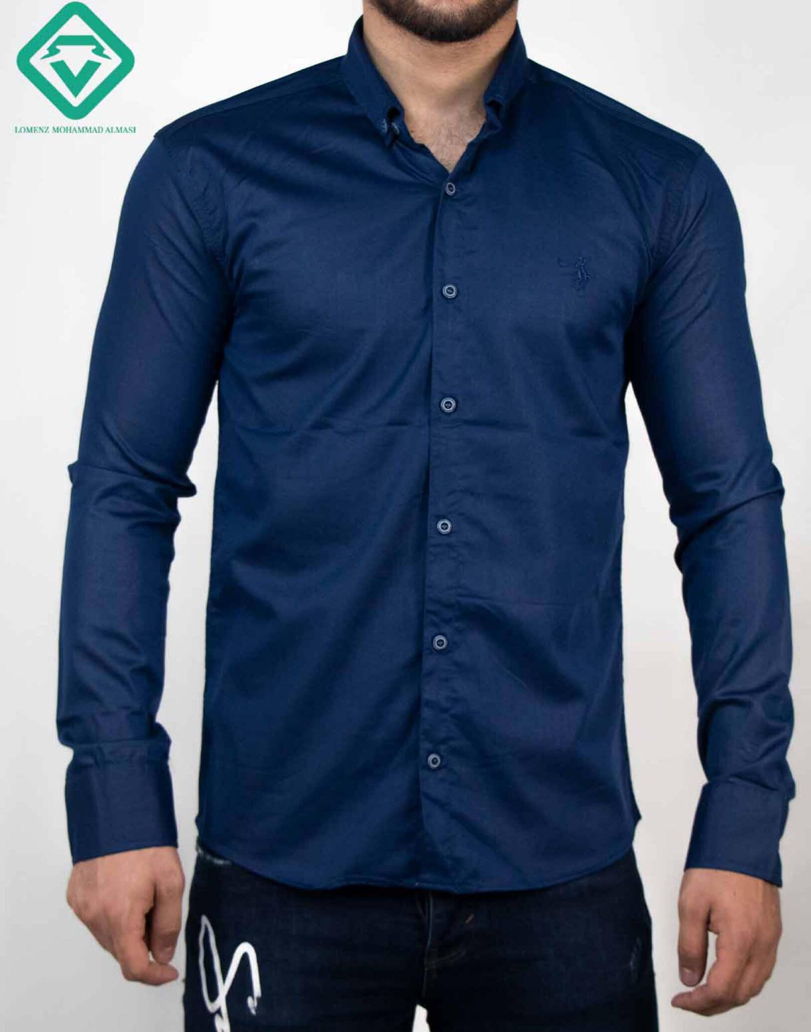 پیراهن آستین بلند اسپرت رنگ سورمه ای | فروشگاه لومنز
