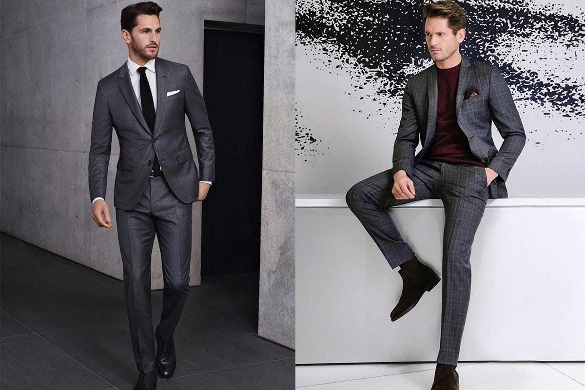 کت و شلوار مردانه رنگ خاکستری زغالی (خاکستری تیره)؛ خاص باشید!