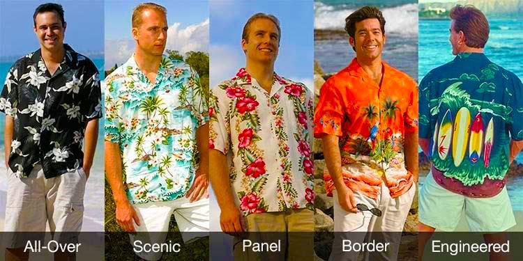 انواع پیراهن مردانه هاوایی