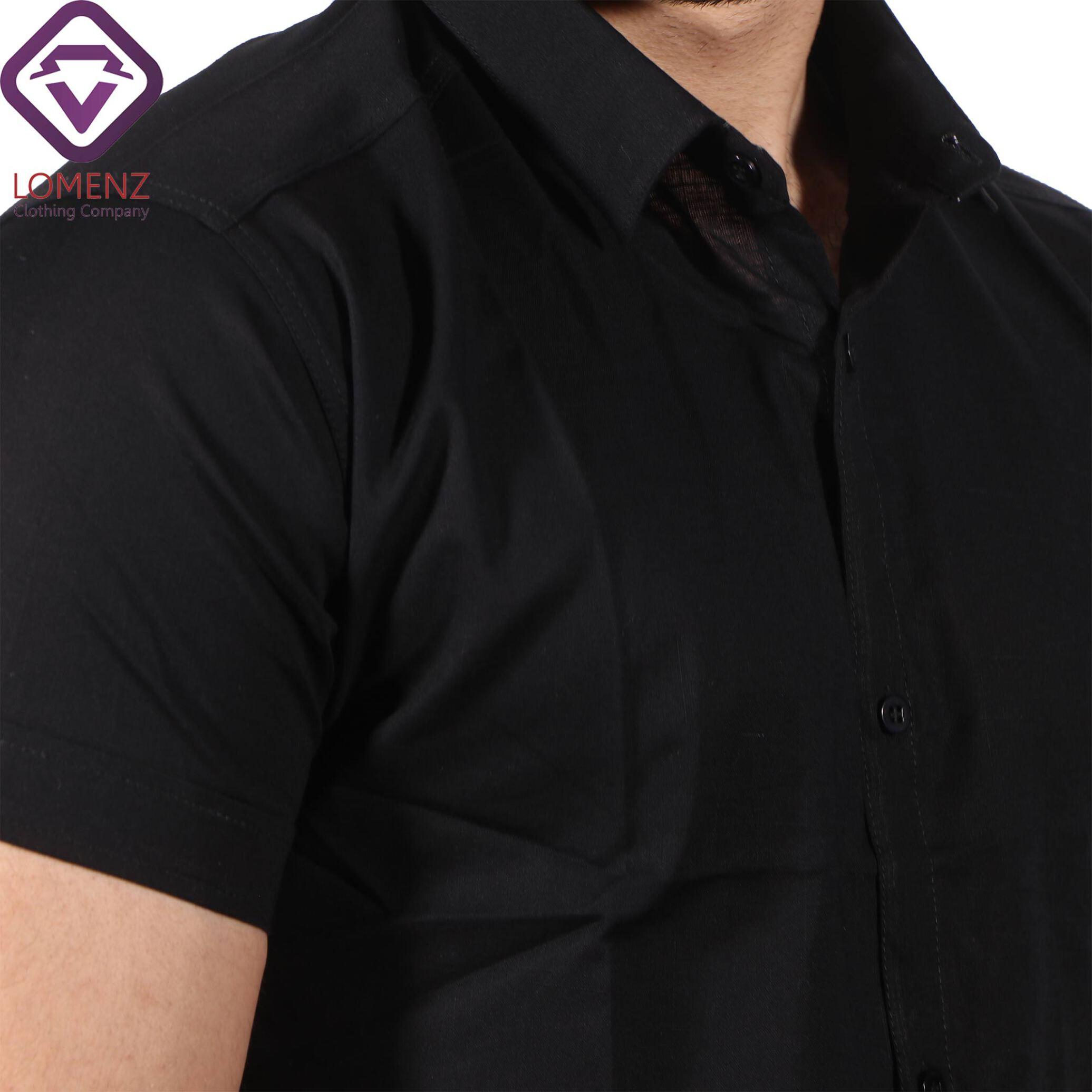 پیراهن آستین کوتاه LINEN کد 01