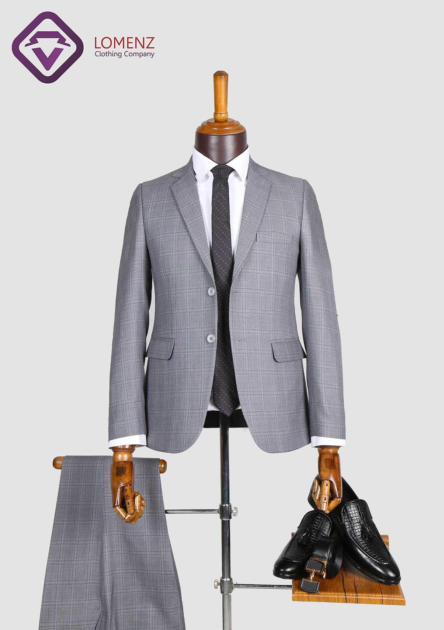 کت شلوار پیچازی مطهری تولید شده توسط لومنز با مرغوب ترین جنس پارچه