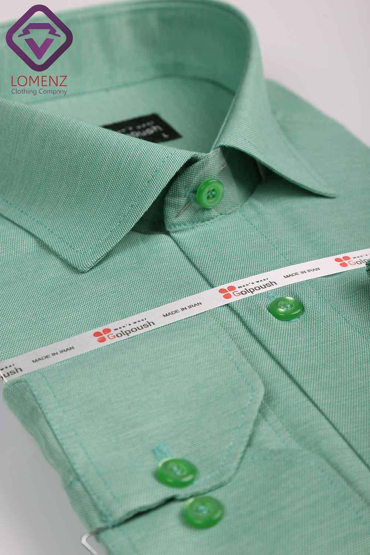 پیراهن جعبه ای فلورا ایرانی سبز کاهویی