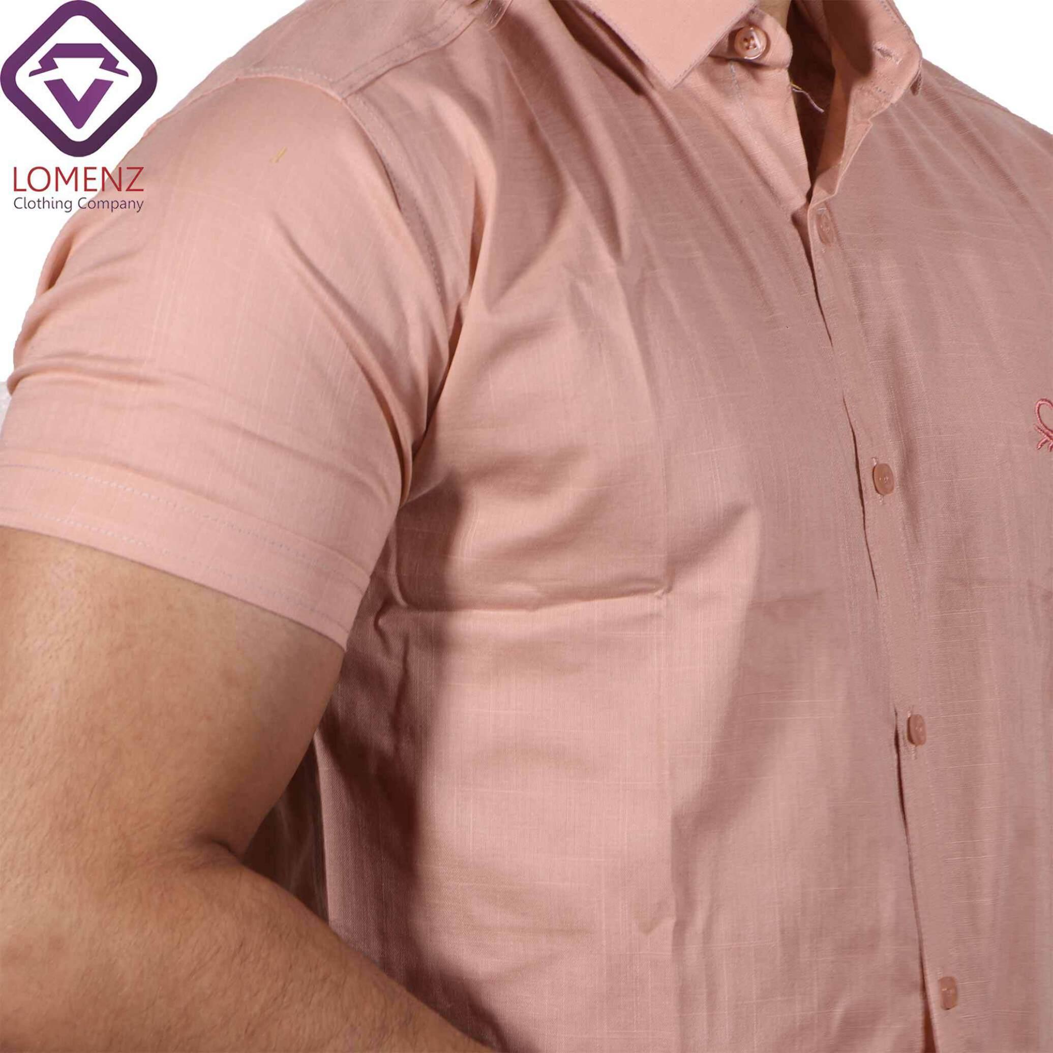 پیراهن آستین کوتاه LINEN کد 07