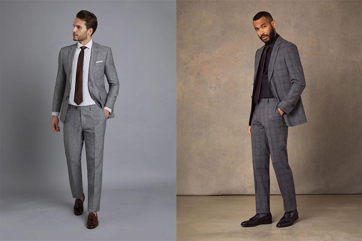 کت و شلوار خاکستری روشن؛ انتخابی غیررسمی برای آقایان!