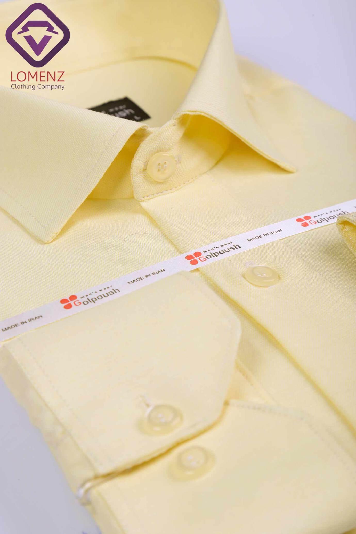 پیراهن جعبه ای فلورا ایرانی لیمویی