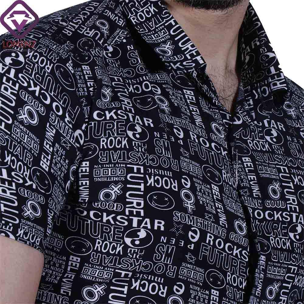 پیراهن آستین کوتاه هاوایی ZARA کد 011