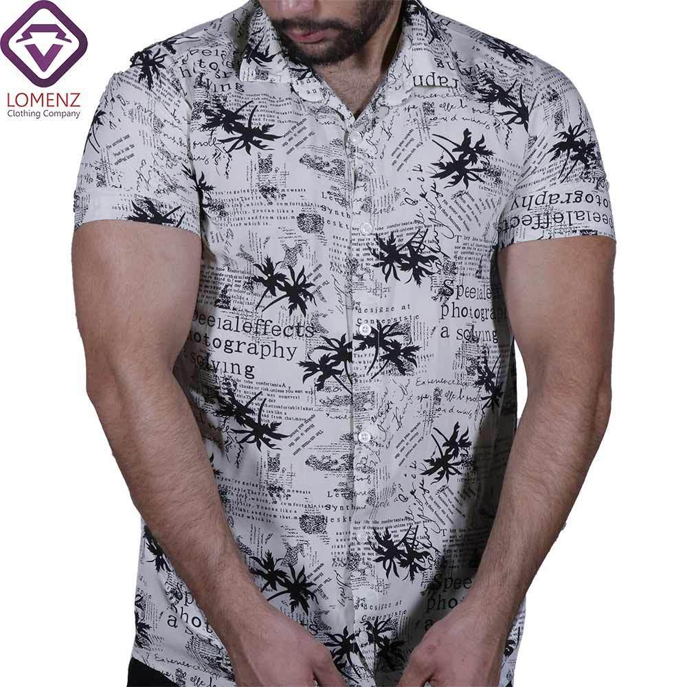 پیراهن آستین کوتاه هاوایی ZARA کد 005
