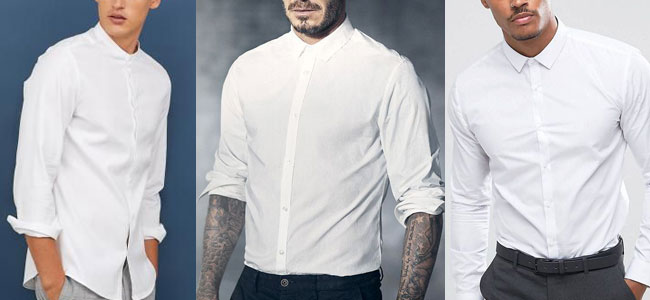پیراهن مردانه سفید رسمی