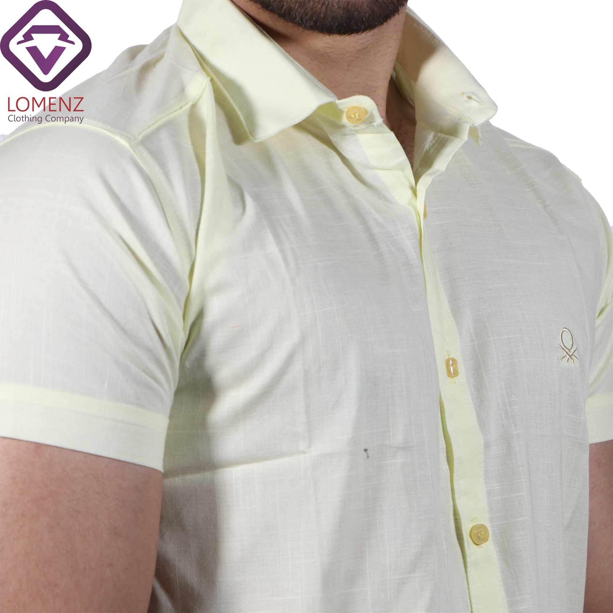 پیراهن آستین کوتاه LINEN کد 06