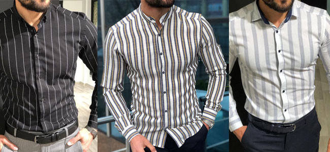 مدل پیراهن مردانه راه راه 2019