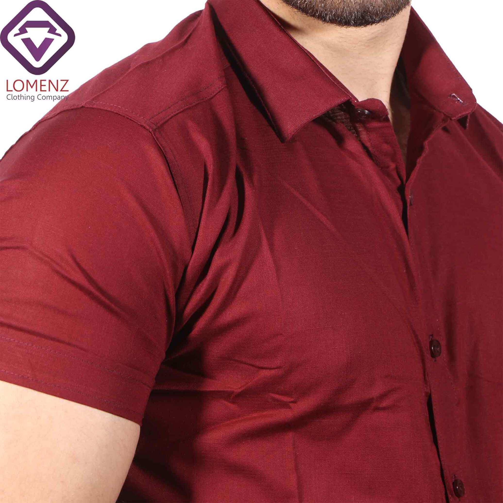 پیراهن آستین کوتاه LINEN کد 08