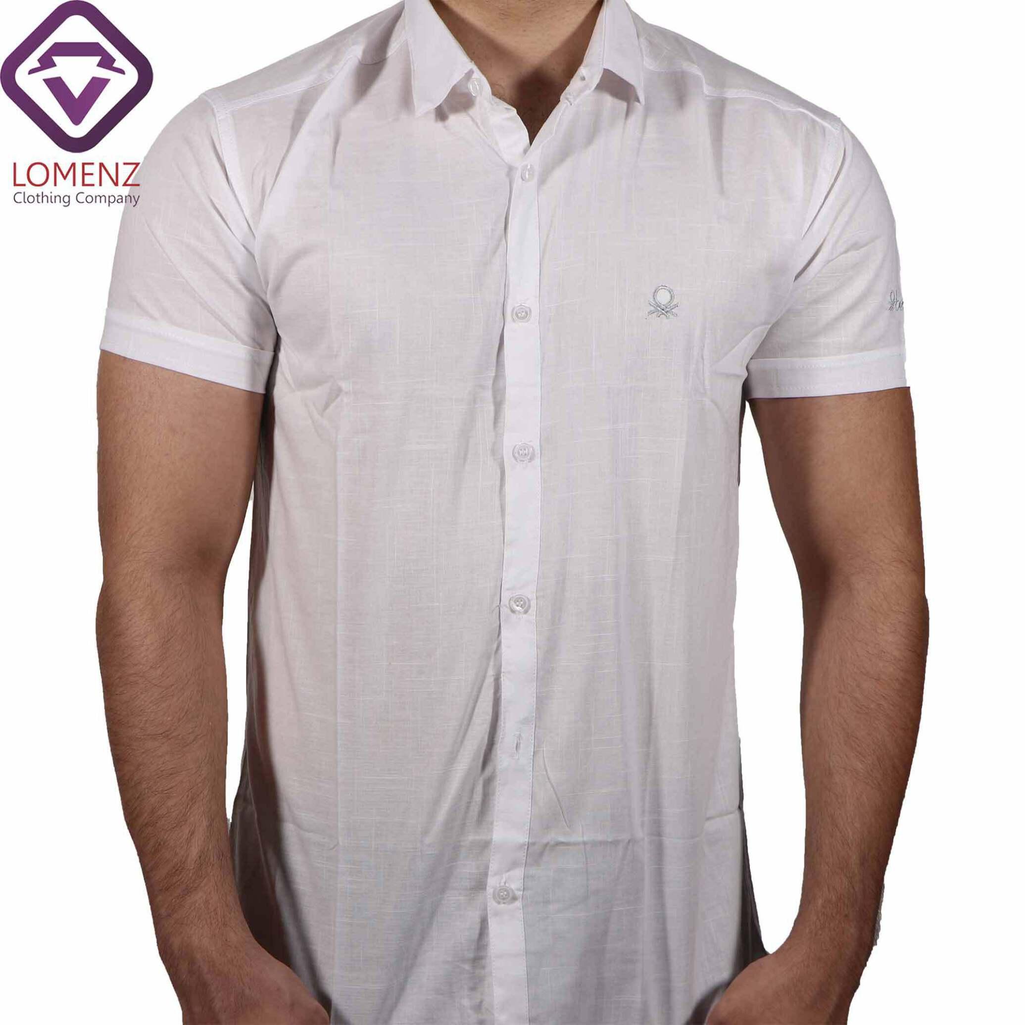 پیراهن آستین کوتاه LINEN کد 10