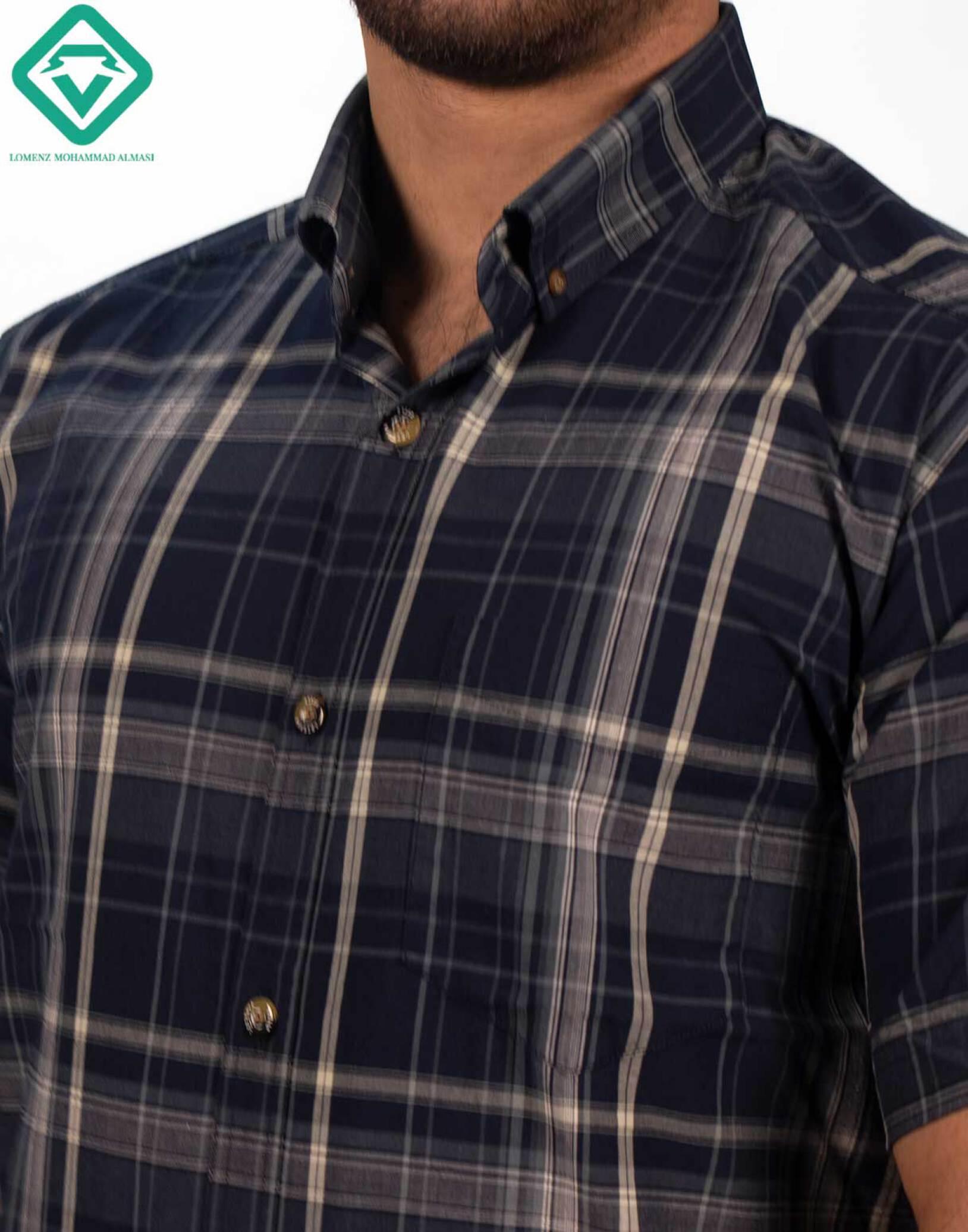 پیراهن اسپرت چهارخونه کد 011 تولید شده توسط سایت لومنز