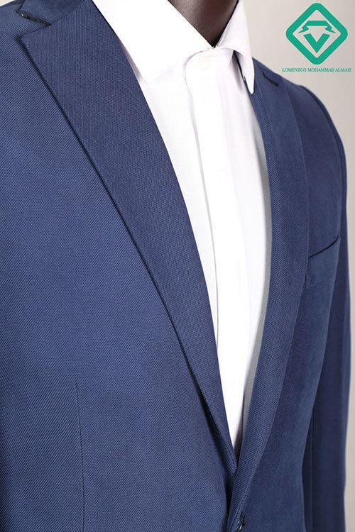 کت تک کتان آبی