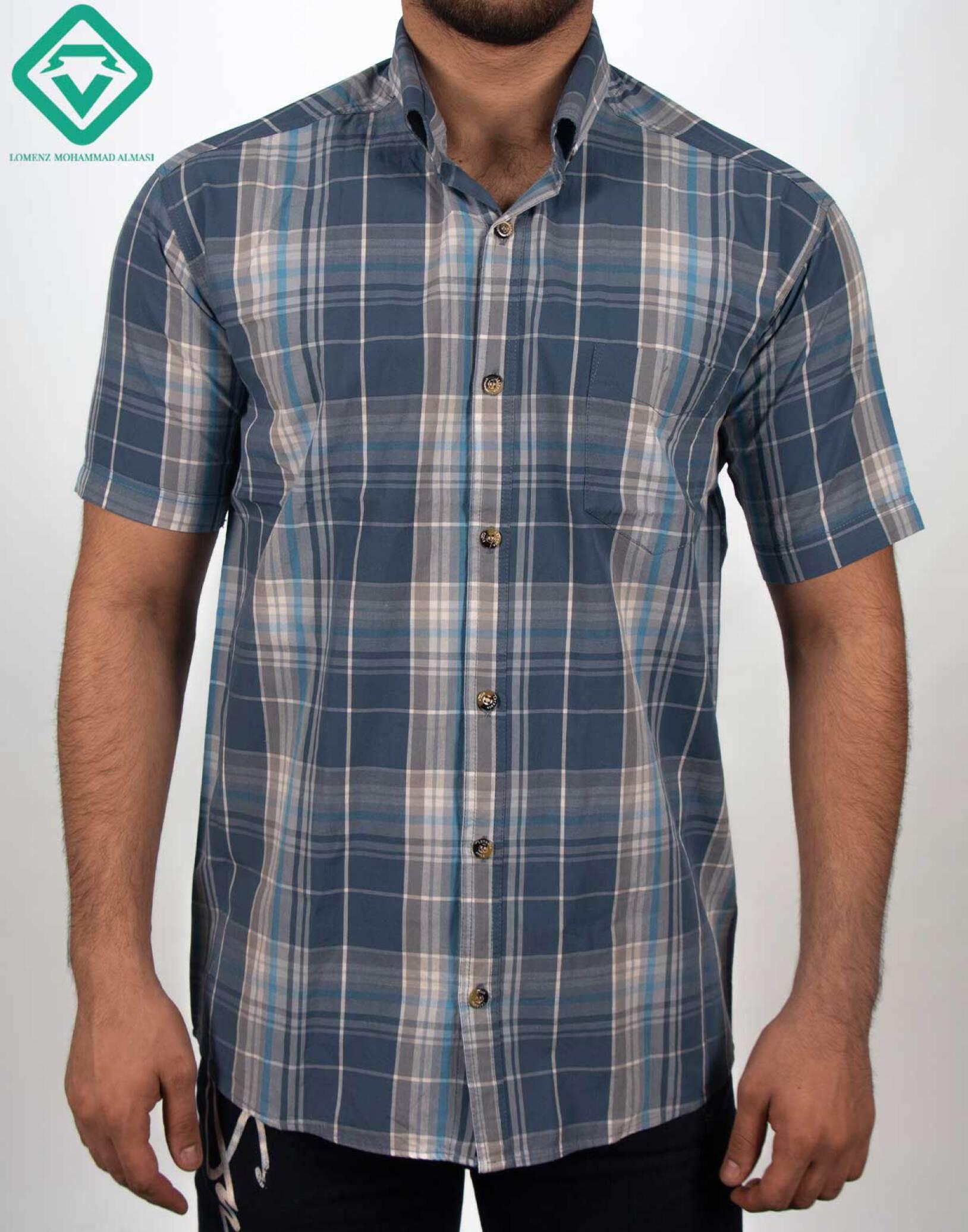 پیراهن اسپرت چهارخونه کد 008 تولید شده توسط سایت لومنز