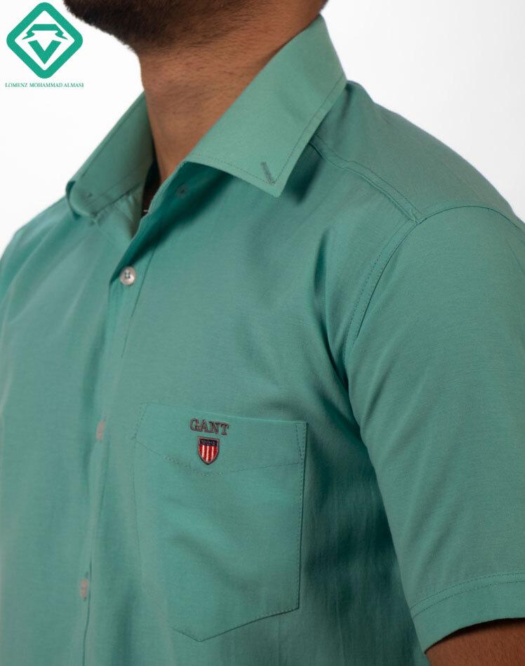 پیراهن آستین کوتاه آبی آسمانی لومنزو