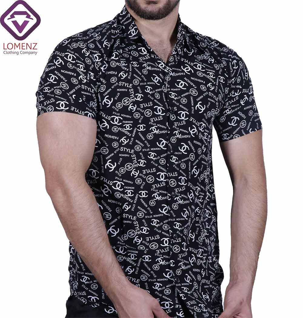 پیراهن آستین کوتاه هاوایی ZARA کد 008