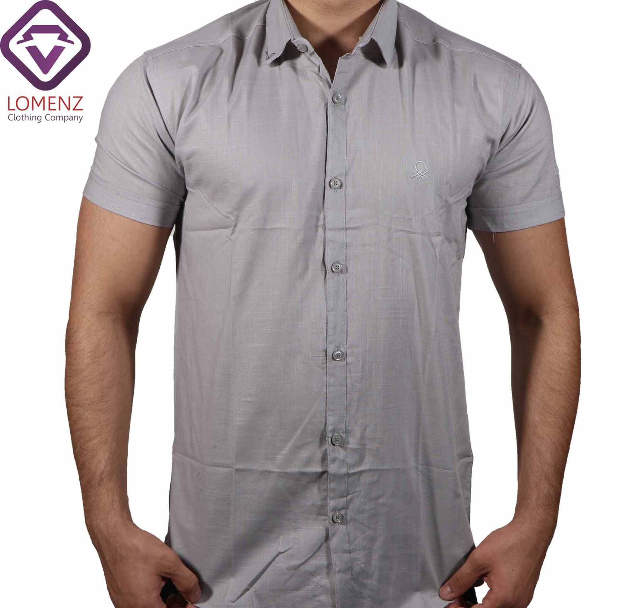پیراهن آستین کوتاه LINEN کد 05
