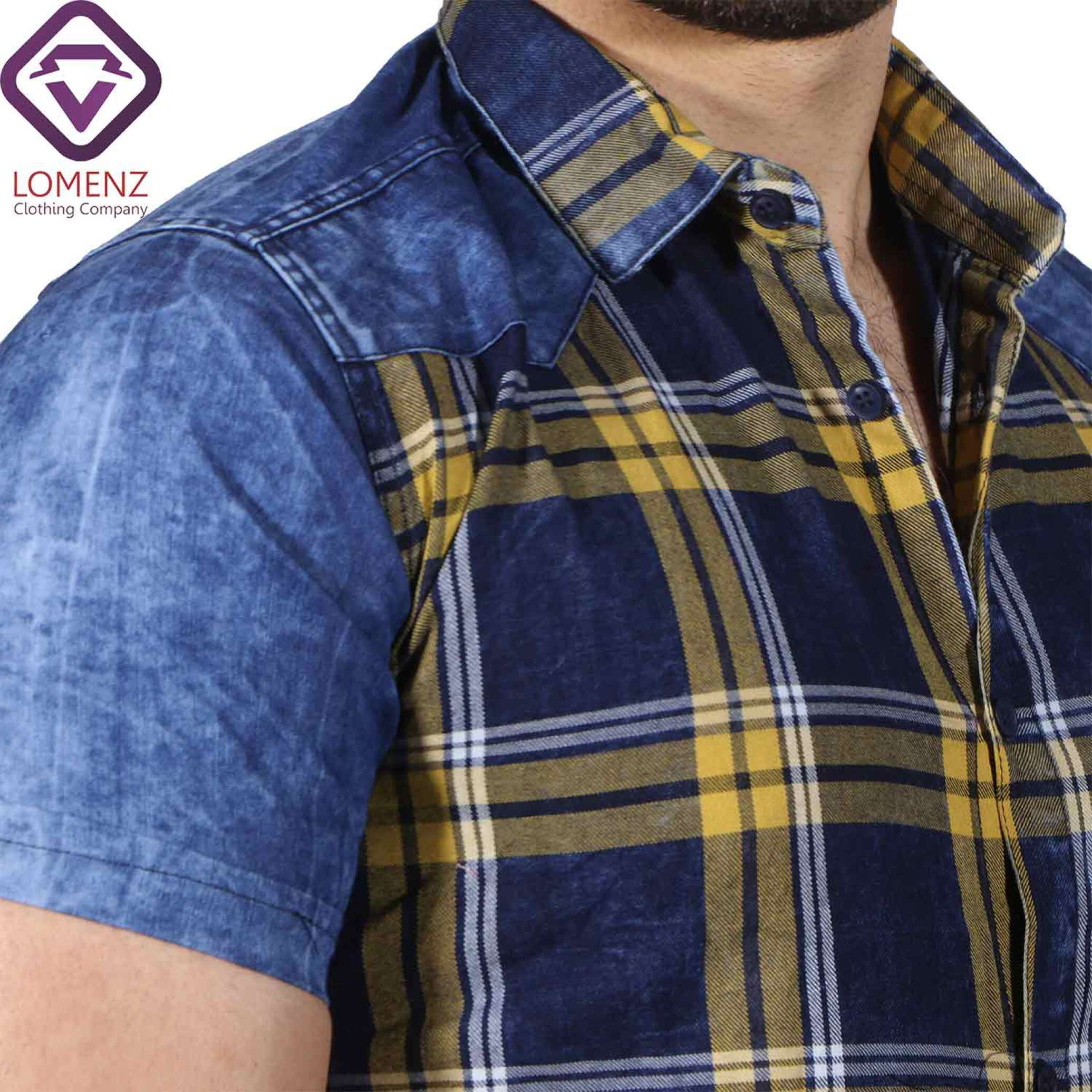 پیراهن آستین کوتاه جین ترکیبی LEVIS کد:1096-4