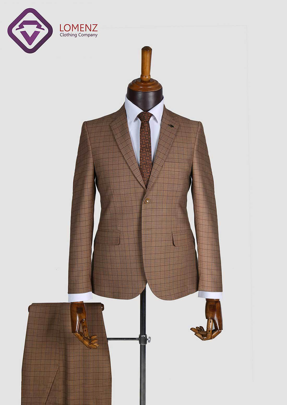 کت شلوار پیچازی طرح فاستونی تولید شده توسط سایت لومنز