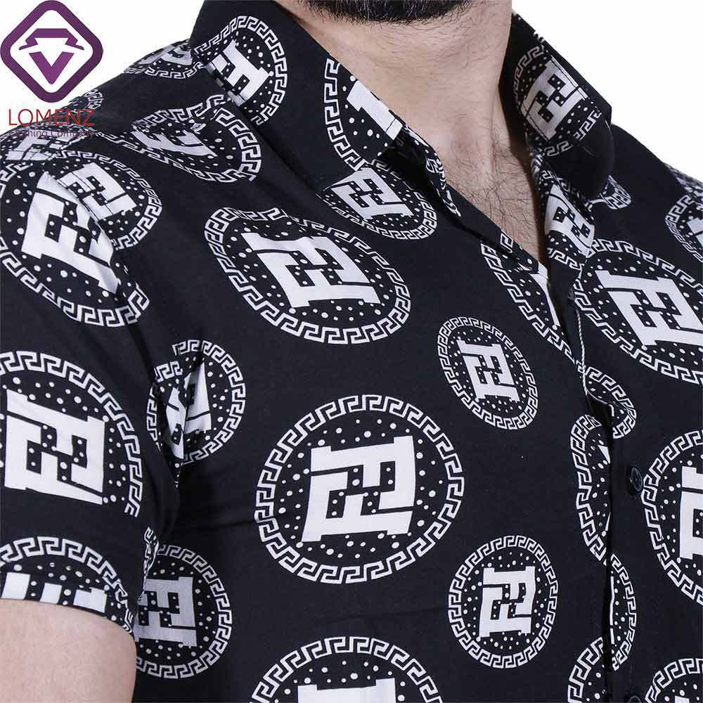 پیراهن آستین کوتاه هاوایی ZARA کد 009