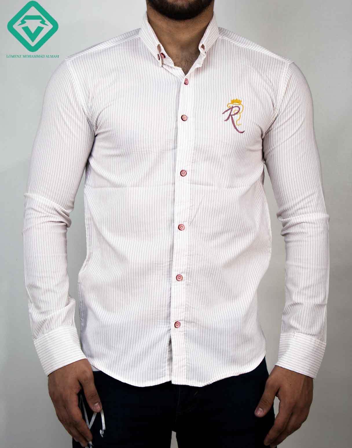 پیراهن آستین بلند اسپرت رنگ سفید | فروشگاه لومنز