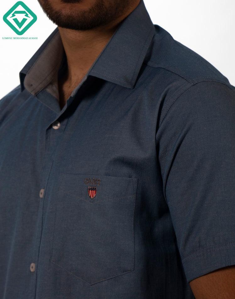 پیراهن آستین کوتاه سرمه ای لومنزو