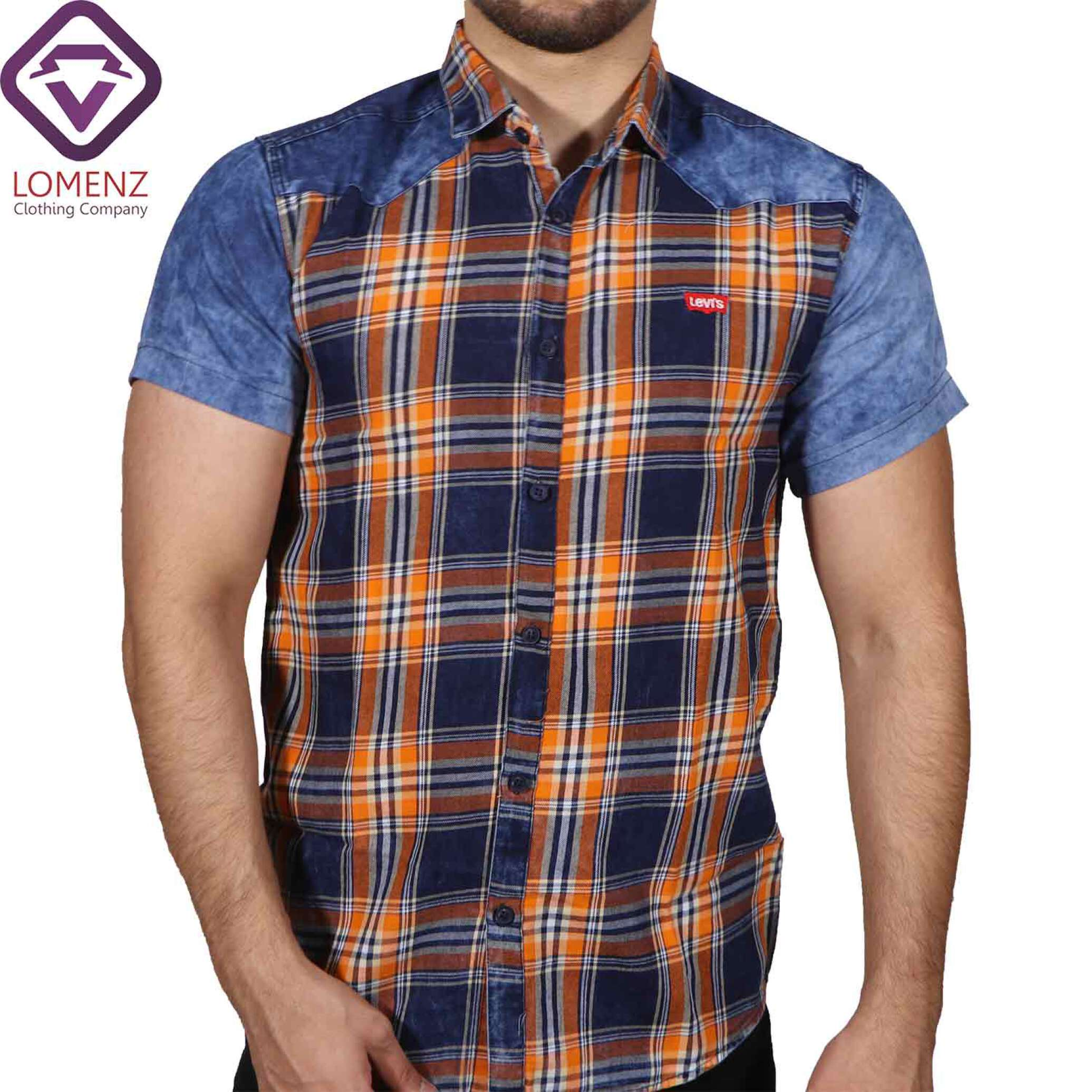 پیراهن آستین کوتاه جین ترکیبی LEVIS
