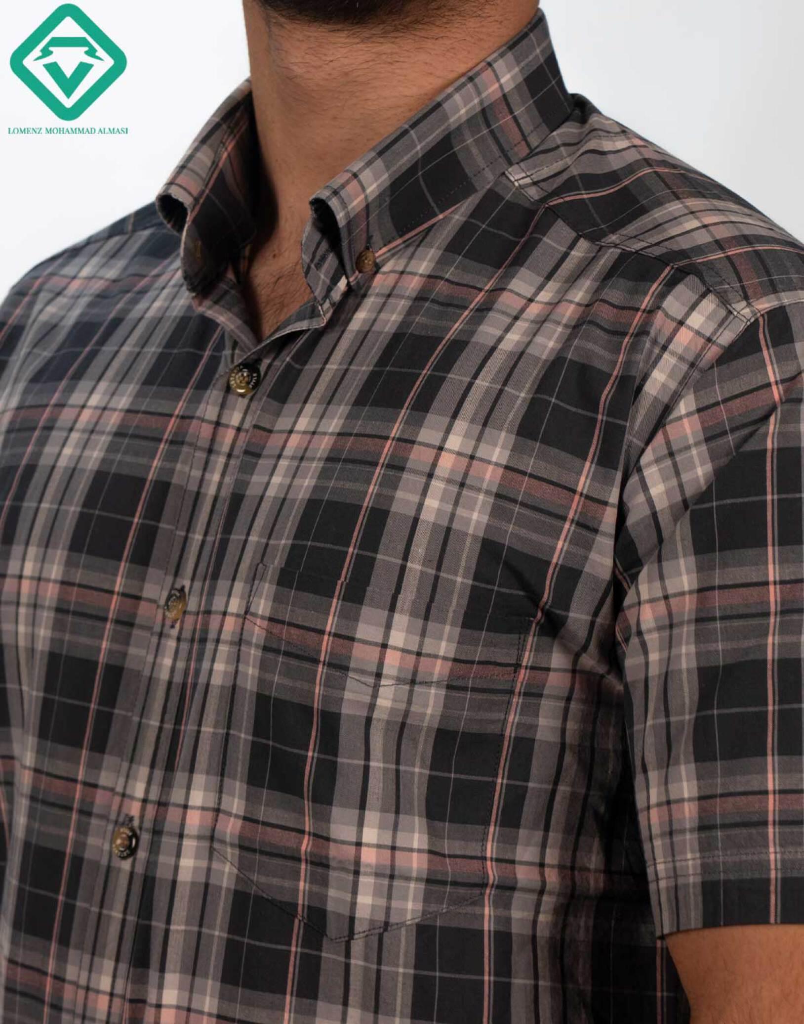 پیراهن اسپرت چهارخونه کد 006 تولید شده توسط سایت لومنز