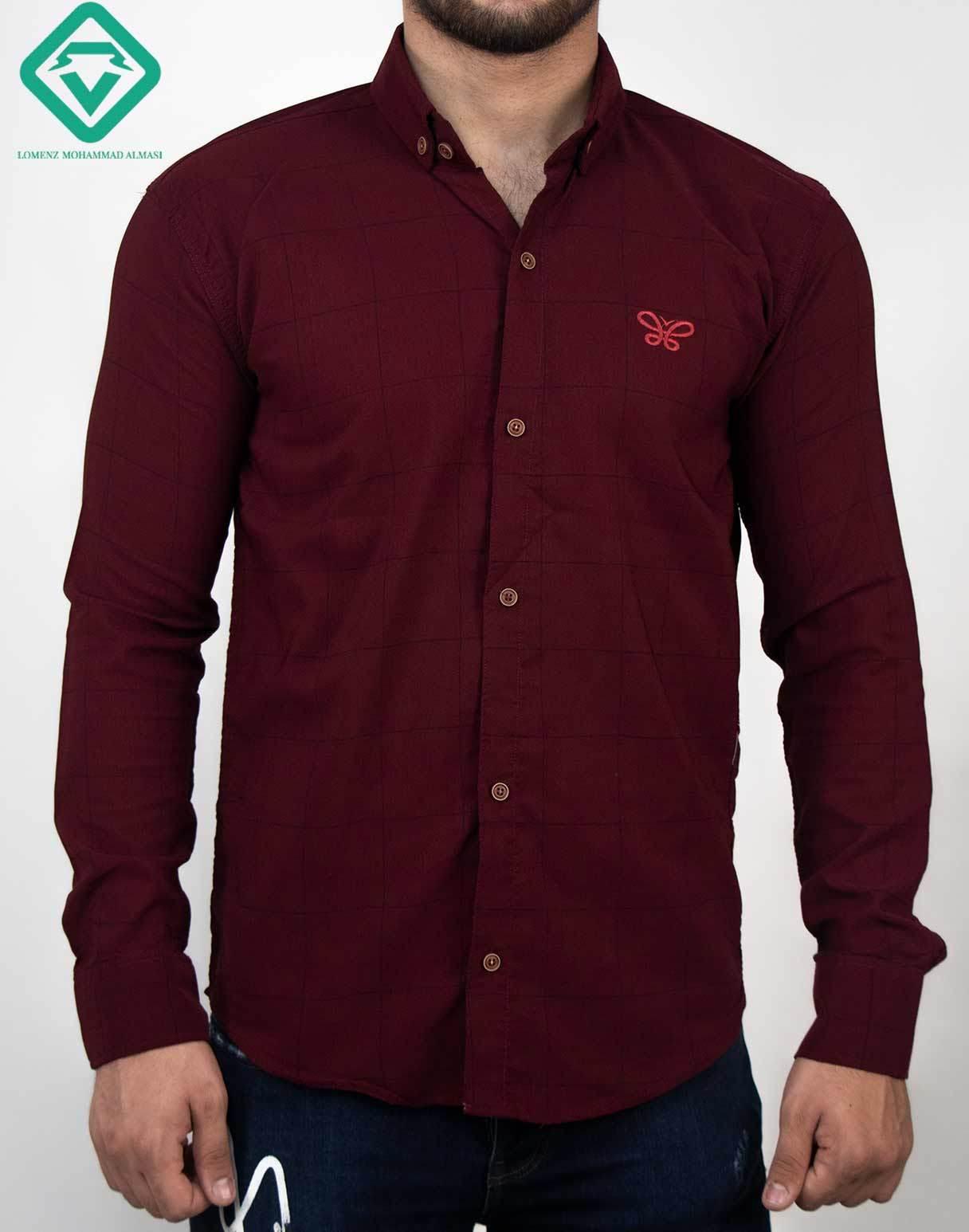 پیراهن آستین بلند اسپرت رنگ قرمز | فروشگاه لومنز