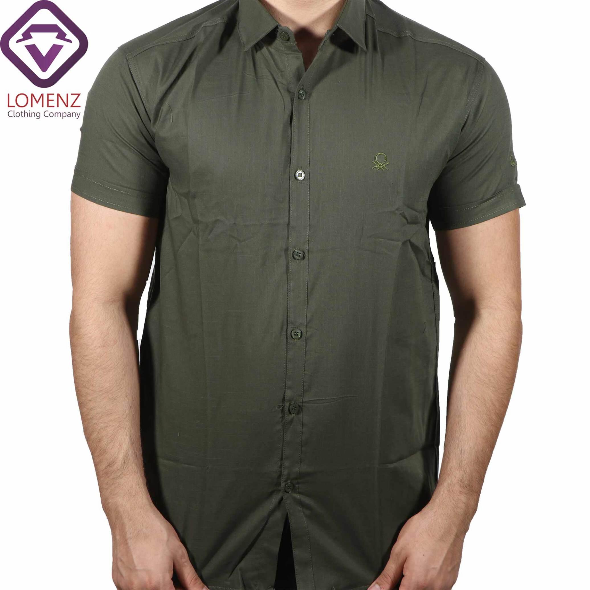 پیراهن آستین کوتاه LINEN کد 09