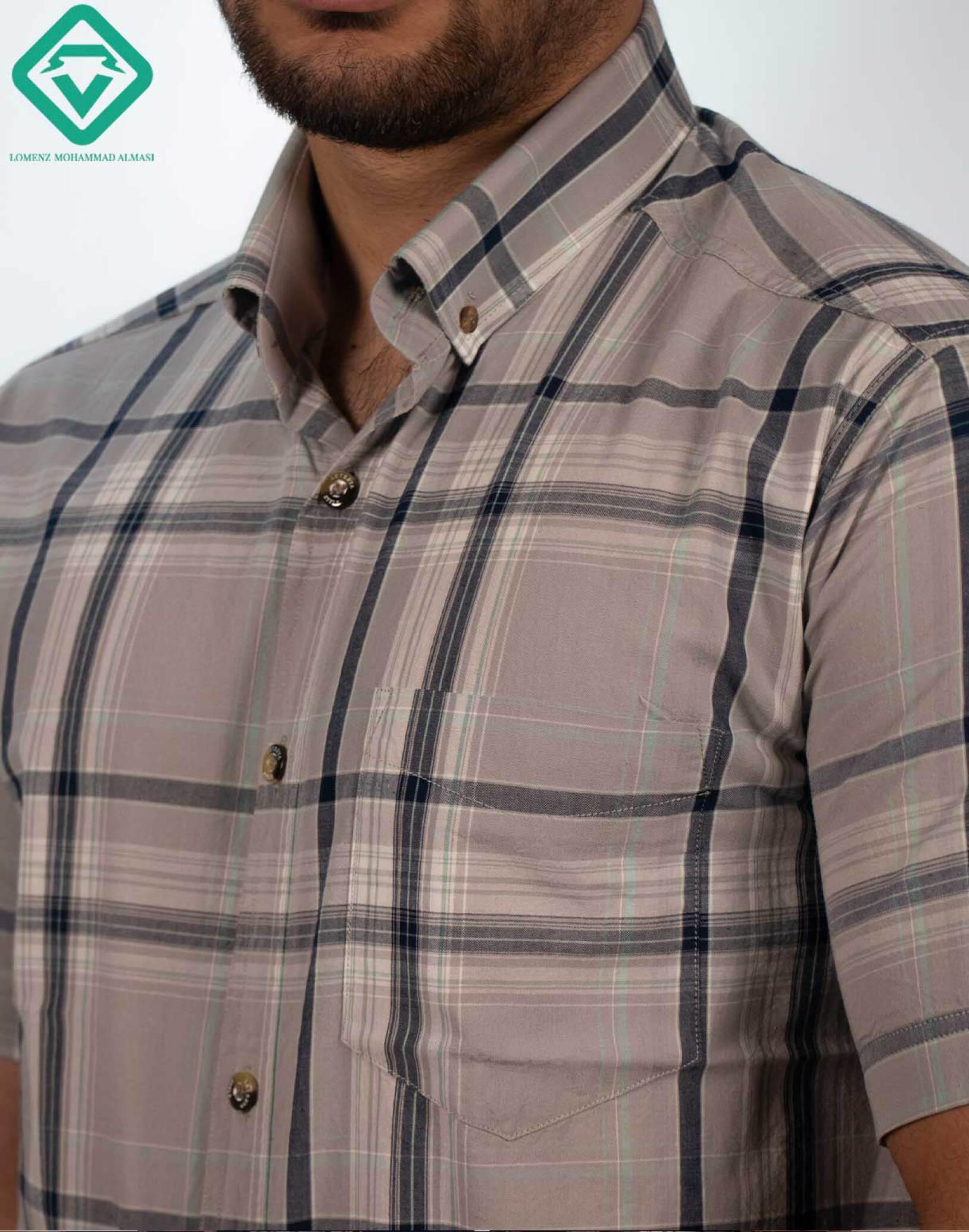 پیراهن اسپرت چهارخونه کد 012 تولید شده توسط سایت لومنز